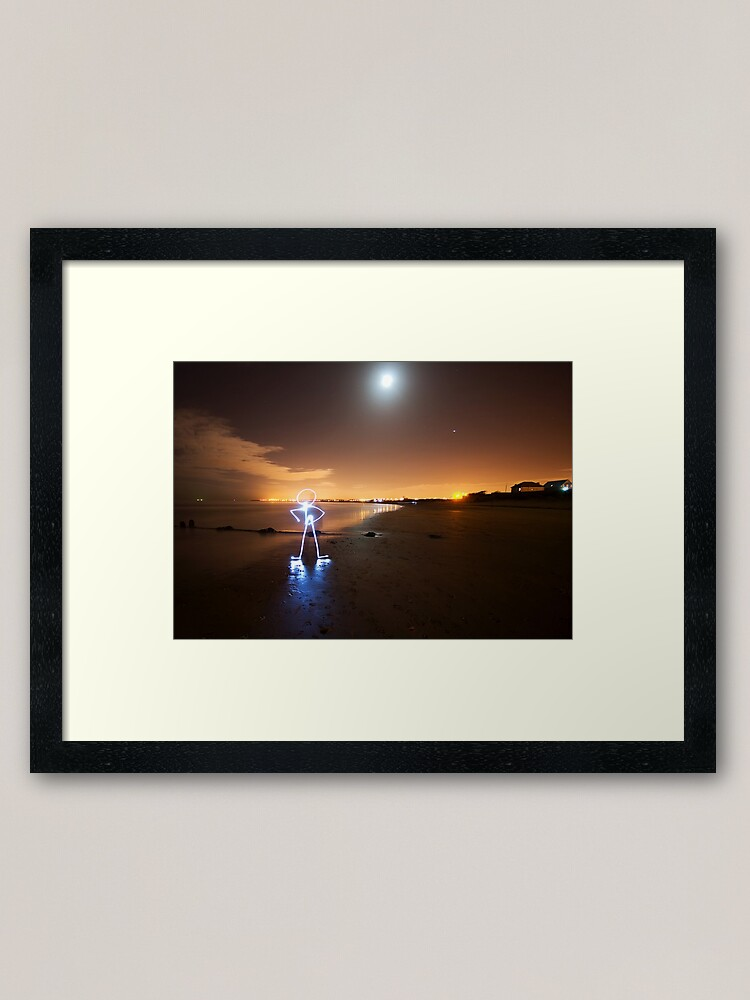 Alternate view of Man Framed Art Print