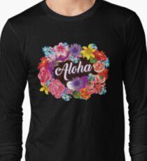 Aloha Art | Cool The Happiest Luau Aloha Design Gift Long Sleeve T-Shirt