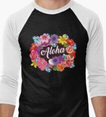 Aloha Art | Cool The Happiest Luau Aloha Design Gift Men's Baseball ¾ T-Shirt