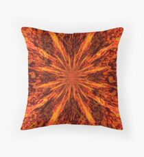 Born in Fire Throw Pillow