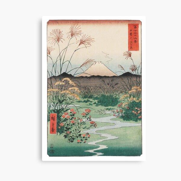 Utagawa Hiroshige Otsuki Plain in Kai Province Canvas Print