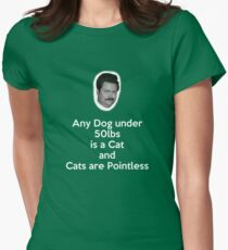 Dogs and Cats Women's Fitted T-Shirt