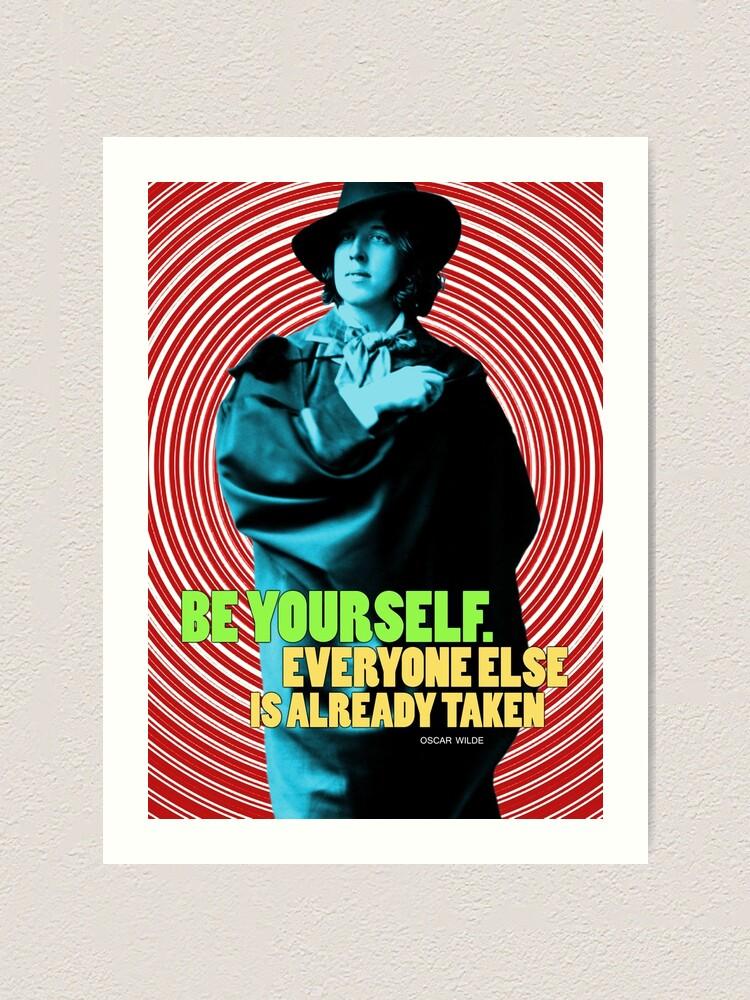 Alternate view of Oscar Wilde Quote 2 Art Print