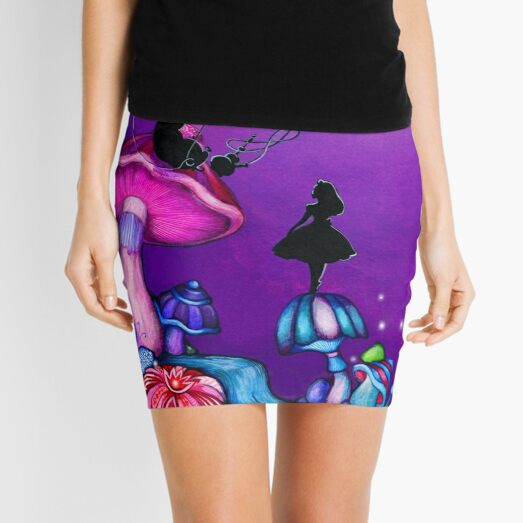 Alice in Wonderland and Caterpillar Mini Skirt