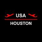 Houston USA Airport Plane Dark Color by TinyStarAmerica