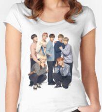 BTS high quality cute Bangtan Women's Fitted Scoop T-Shirt