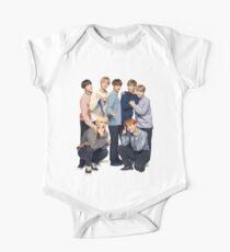 BTS high quality cute Bangtan Short Sleeve Baby One-Piece