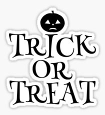 Pumpkin Trick or Treat  Sticker