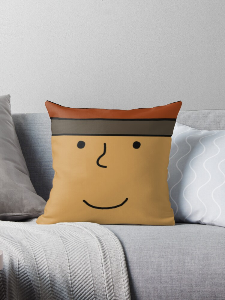 Hershel Layton Face Pillow Throw Pillow By Ebee3 Redbubble