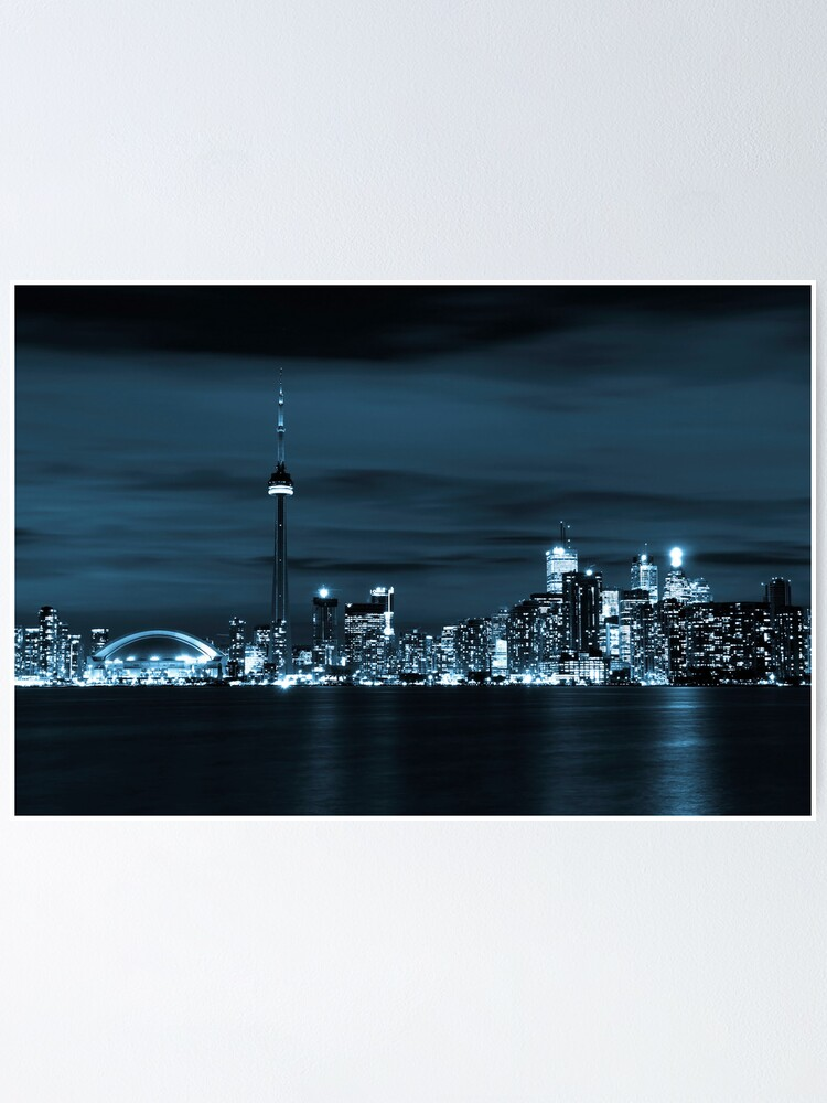 Quot Toronto Skyline Quot Poster By Robsmithphoto Redbubble