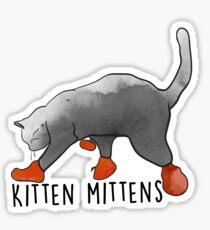 Kitten Mittens Sticker