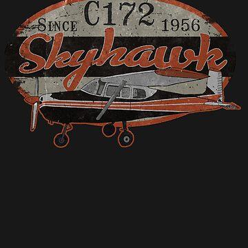 Cessna 172 Skyhawk, Since 1956 Vintage Design by RealPilotDesign