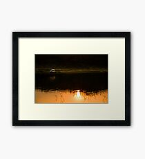 My SUV and sunset Framed Print