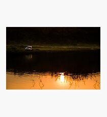 My SUV and sunset Photographic Print