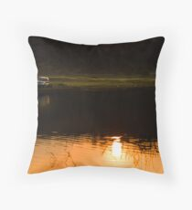 My SUV and sunset Throw Pillow