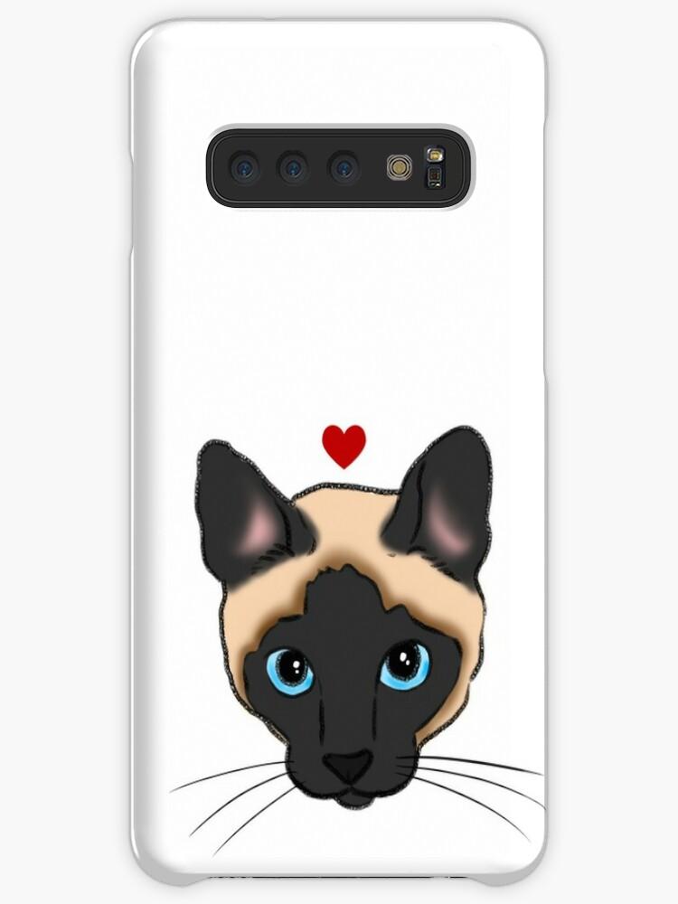 «Gato siamés lindo con el corazón, mamá del gato siamés, amante del gato siamés» de Stacey Hsu