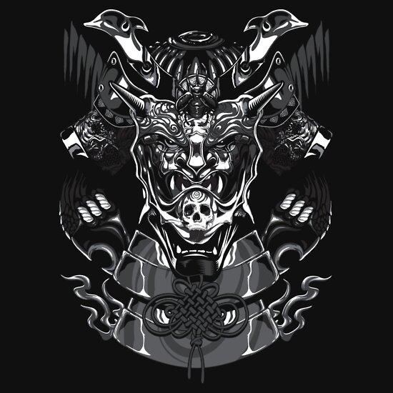 TShirtGifter presents: Japanese Kabuto Mask