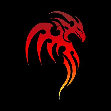 Rising Phoenix Tribal Symbol by peculiardesign