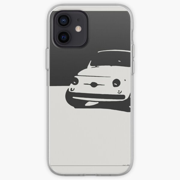 Fiat 500, 1959 - Black on white iPhone Soft Case