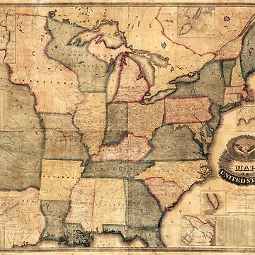 Map of the United States, East Coast (1842) by allhistory
