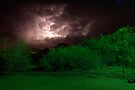 New Mexico Night Storm by Larry Costales