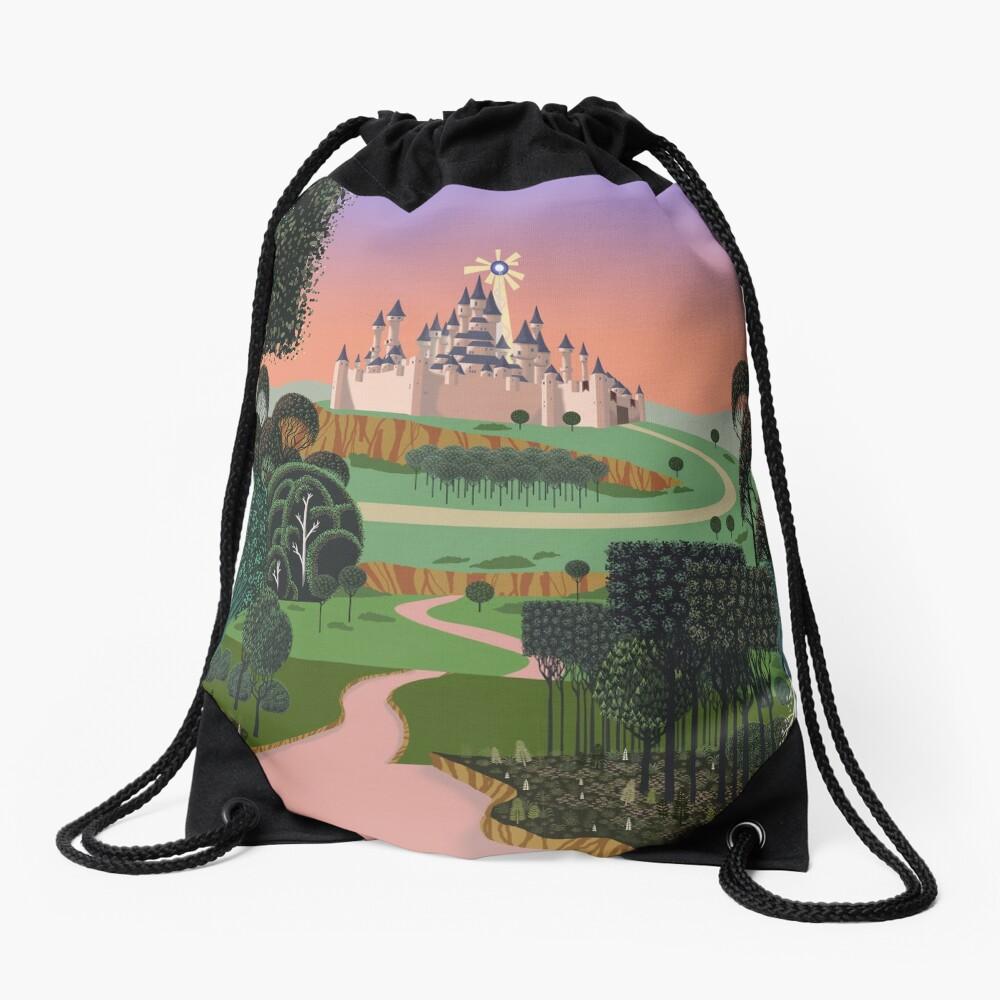 Dream for a Castle Drawstring Bag
