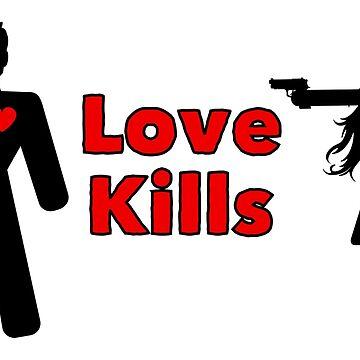 Love Kills Black Version 1 by JohnChocolate