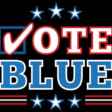 Vote Blue Democratic Midterm Election by elvindantes