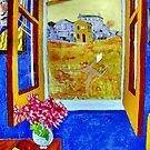 Vincent outside the Yellow House,Running Free. ( Homage to Vincent ) by Richard  Tuvey
