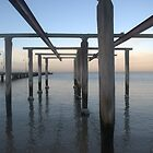 Boat Ramp at South Melbourne Beach by Helen Greenwood