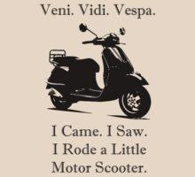 Veni Vidi Vespa Black Print