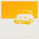 Fiat 500, 1959 - Yellow on white by uncannydrive