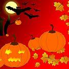 Halloween card by Silvia Ganora