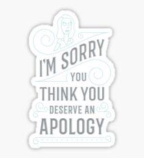 I'm Sorry Sticker