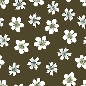 white flowers on brown by swoldham