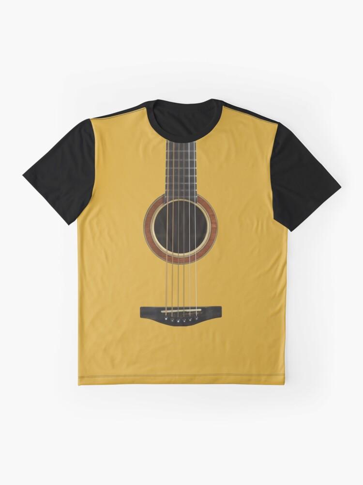 Alternative Ansicht von Akustische Gitarre Grafik T-Shirt