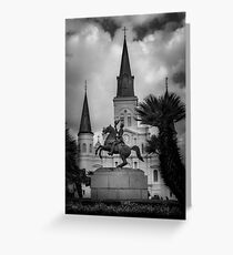 General Of New Orleans In Black and White Greeting Card