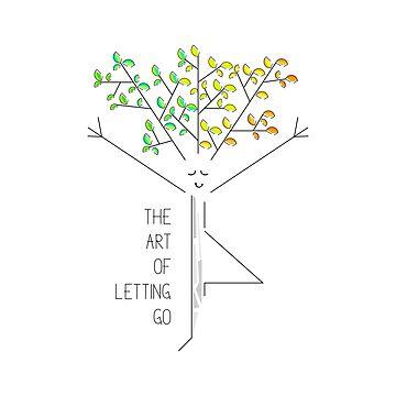 Autumn tree practicing yoga comic drawing by SooperYela