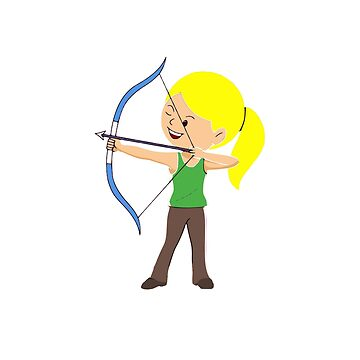 This Girl Loves To Draw T-Shirt Female Archery Tee Gift by techman516