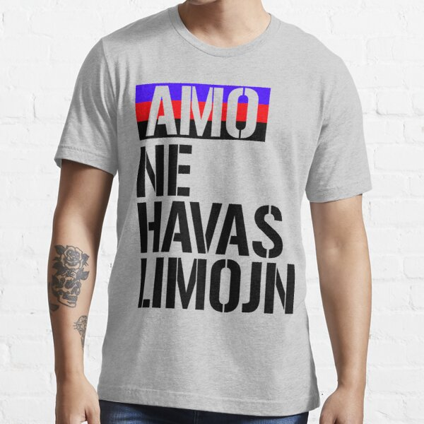 Amo ne havas limojn - Love has no limits Essential T-Shirt