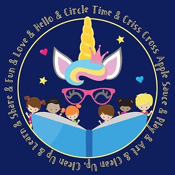 Daycare Provider, Kindergarten Teacher, Preschool Teacher Unicorn by ShikitaMakes