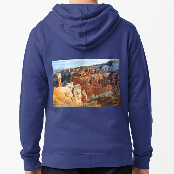 Bryce Canyon, The Cathedral, Arizona Zipped Hoodie