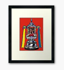 Alexis Sanchez / 2015 FA Cup Winners Framed Print