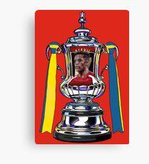 Alexis Sanchez / 2015 FA Cup Winners Canvas Print
