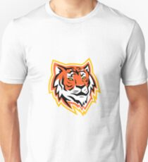 Bengal Tiger Head Mascot Unisex T-Shirt