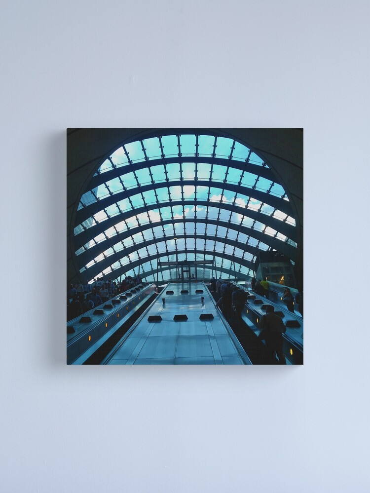 Alternate view of Canary Wharf station, London - Beautiful modern architecture  Canvas Print