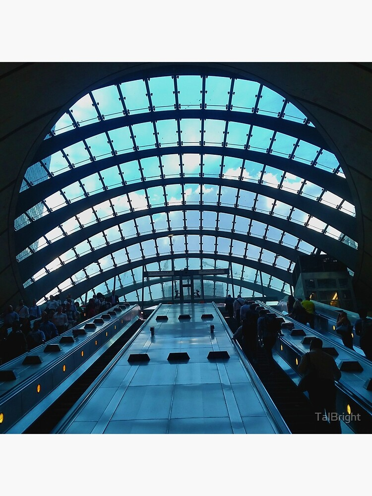 Canary Wharf station, London - Beautiful modern architecture  by TalBright
