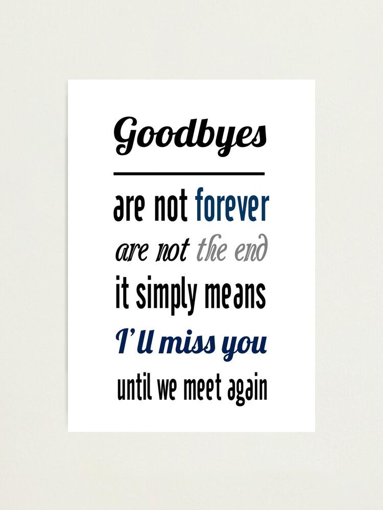 Ich werde dich vermissen text