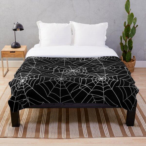 Spider cobweb spiderweb Halloween goth pattern HD HIGH QUALITY online store Throw Blanket
