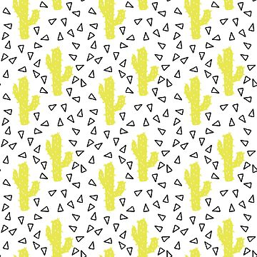 Yellow Cactus Pattern by JakeRhodes
